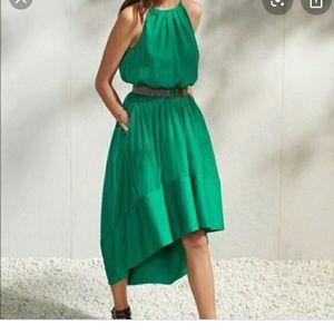 Banana Republic Emerald green halter tie dress